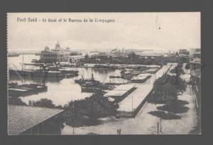 082621 EGYPT Port Said Le Quay et le Bureau de la Compagnie PC