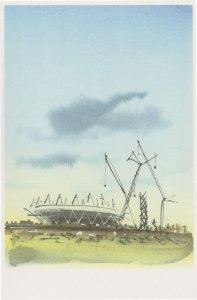 Queen Elizabeth Olympic Park Stadium 2011 Construction Postcard