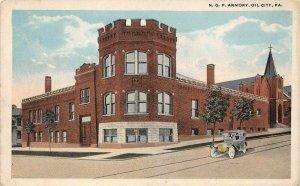 LPS97 Oil City Pennsylvania N. G. P. Armory Vintage Postcard