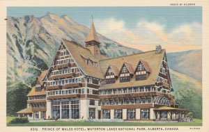 Canada Alberta Prince Of Wales Hotel Waterton Lakes National Park Curteich s4862