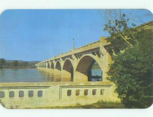 Unused Pre-1980 BRIDGE SCENE Tulsa Oklahoma OK HQ8652
