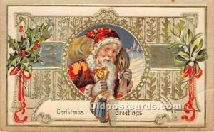 Santa Claus Postcard Old Vintage Christmas Post Card 1910