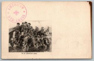 WWI France~American Red Cross~In an American Camp~16 Soldiers in One Truck~c1918