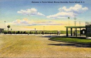 SC - Parris Island Marine Barracks. Entrance