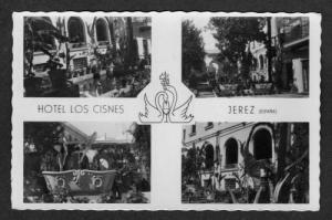 SPAIN Hotel Los Cisnes JEREZ Real Photo Postcard RPPC Postcard