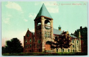Washington & Jefferson College Pennsylvania~Stout Belltower on Gymnasium c1910