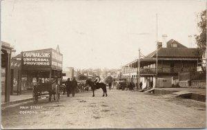 Main Street Gosford NSW Australia Chapman & Sons c1908 Real Photo Postcard G27