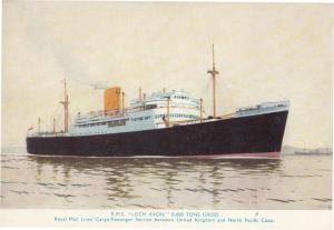 RMS Loch Avon Ship Postcard