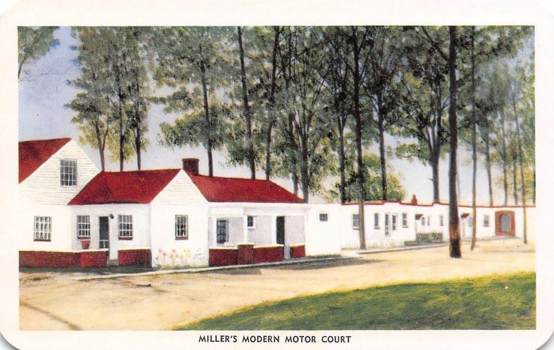 Arlington VA Miller's Art Deco Motor Court Motel~1950s