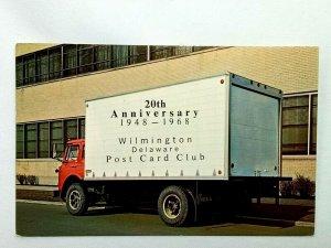 Vintage Postcard 20th Anniversary Wilmington Delaware Post Card Club Fruehauf's