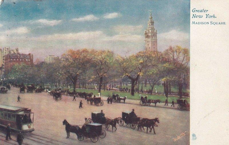 NEW YORK CITY, New York, PU-1907; Madison Square ; TUCK