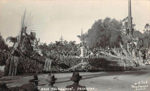 LP99 Pasadena  California Postcard RPPC Rose Parade Tournament
