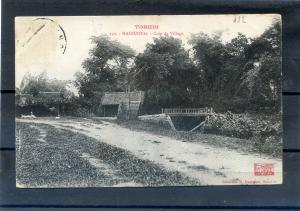 INDOCHINA TONKIN VIETNAM, HAI-DUONG Corner of Village  1900's