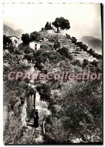 Old Postcard Menton N D of the Annunciation The last step