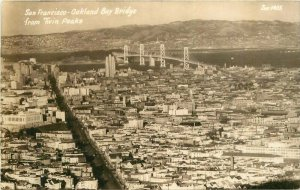Birdseye California San Francisco Bay Bridge RPPC Photo Postcard 20-10982