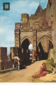 France Carcassonne Aux avant Portes du Chateau Comtal
