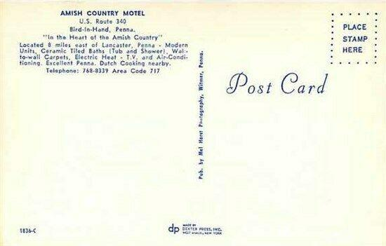 PA, Bird-in-Hand, Pennsylvania, Amish Country Motel, Multi View, Dexter Press