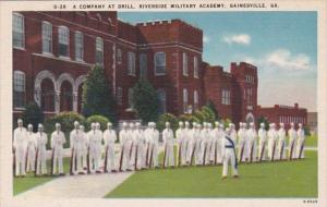Georgia Gainesville Company At Drill Riverside Military Academy