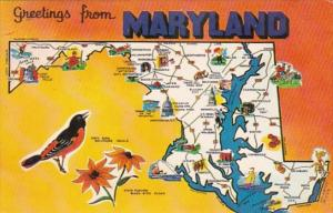 Greetings From Maryland With Map