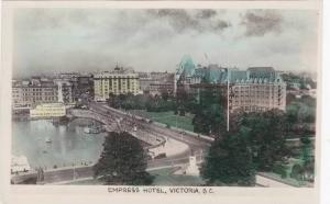 RP; Hand-colored, Aerial View, Empress Hotel, Victoria, British Columbia, Can...