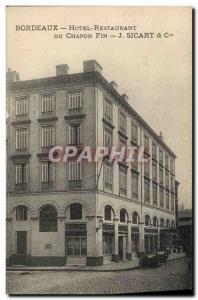 Old Postcard Bordeaux Hotel Restaurant du Chapon Fin Sicart