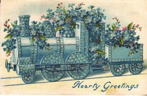 Hearty Greetings - Flower Train 1908