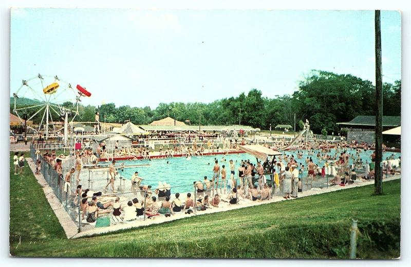Postcard Ky Bowling Green Beech Bend Park Swimming Pool A2