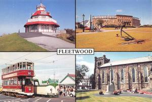 Postcard FLEETWOOD Multiview, Lancashire D44
