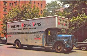 New York NY Stuyvesant Moving Vans Truck Postcard