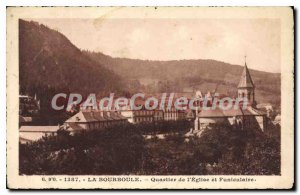 Old Postcard La Bourboule From I'Eglise Quarter And Funicular
