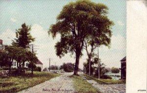 PRE-1907 NEWBURY, MA ON THE TURNPIKE dirt road