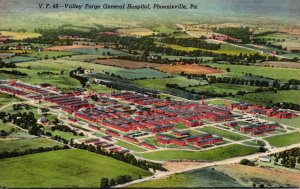 Pennsylvania Phoenixville Aerial View Valley Forge General Hospital 1954 Curt...