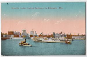 Steamer Louise, Baltimore to Tolchester MD