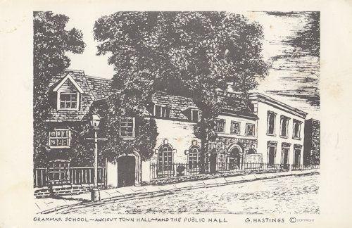 Wisbech Grammar School Cambridge Painting Postcard