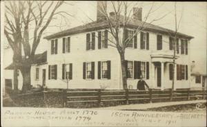Belchertown MA Parson House c1910 Real Photo Postcard