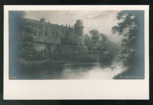 RPPC Warwick Castle River Front Chic Series Keene