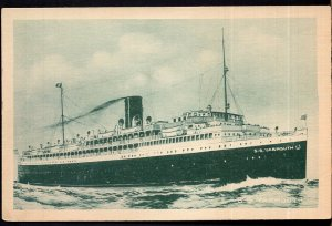 Nova Scotia S.S. YARMOUTH, Ship Ferry Boat - White Border