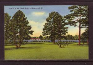 North Carolina colour PC City Park, Rocky Mount, unused