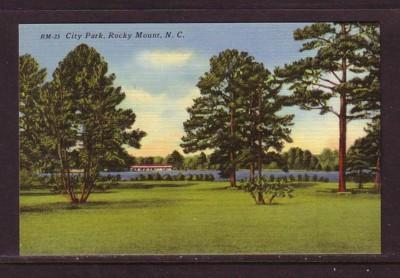 North Carolina colour PC City Park, Rocky Mount, unused
