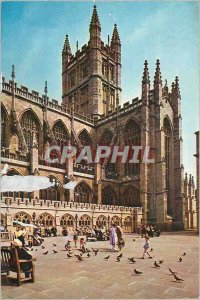 Modern Postcard The Abbey in Bath View From the South West Showing The Rectan...