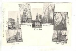 7Views Of Different Churches, Keene, New Hampshire, 1900-1910s