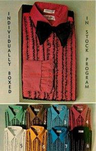 Advertising Postcard, NY, New York City, Barry Morell Shirt,Continental Fashions