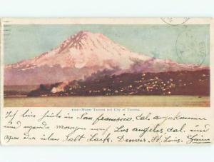 Tape Repair 1904 very early view - CITY AND MOUNTAINS Tacoma Washington WA n6697