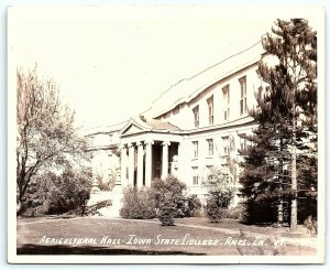 VTG Postcard RPPC Real Photo Iowa State College Ames IA Agricultural Hall A5