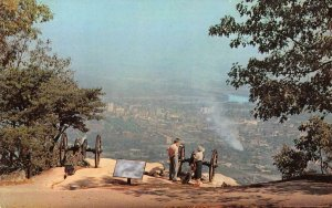 Point Park CHATTANOOGA, TN Lookout Mt. Cannons c1950s Vintage Postcard