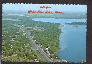 MN Hello From White Bear Lake Minnesota Postcard Houses