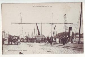P878 old view card france nantes-un coin du port