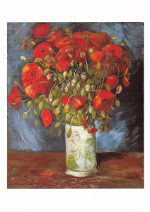 Postcard Art Poppies (1886-7) by Vincent Van Gogh MU2261 #2752