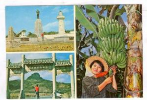 3-Views, Girl posing by banana tree, Oluanipi Lighthouse, botanical garden, B...