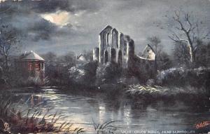 Valle Crucis Abbey Ruins near Llangollen Moonlight Abtei